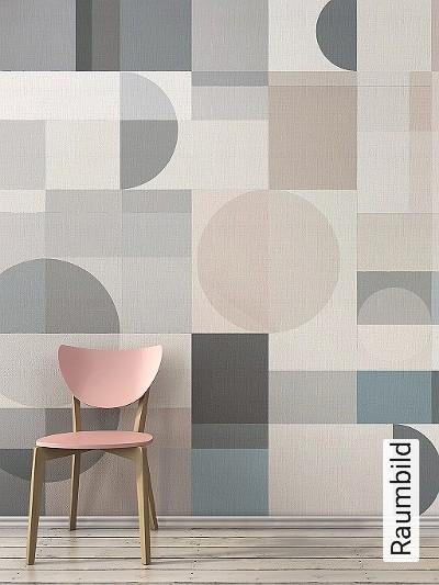 XANELA;-ocl.-01-Kreise-Quadrate/Rechtecke-Moderne-Muster-Hellgrün-Creme-Hellblau