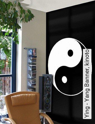Ying---Yang-Banner,-kinoto-Kreise-Ornamente-Moderne-Muster-Anthrazit-Weiß