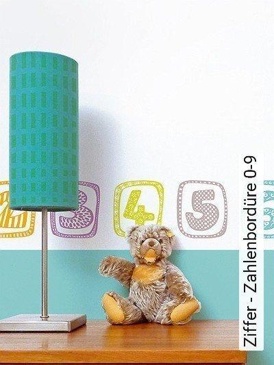 Ziffer---Zahlenbordüre-0-9-Zahlen-KinderTapeten-Multicolor