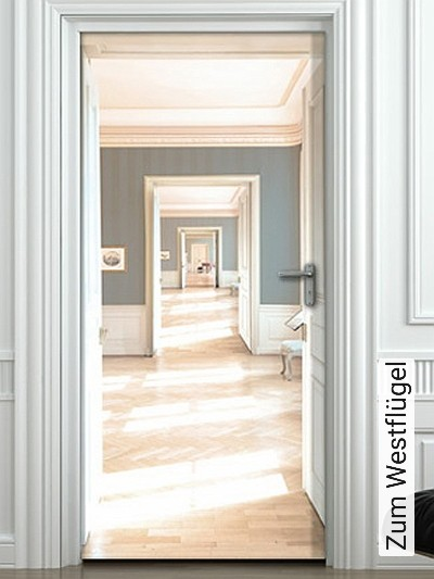 Zum-Westflügel-Kunst-Türen-Räume-Moderne-Muster-FotoTapeten
