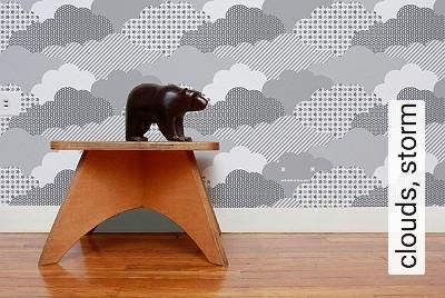 clouds,-storm-Wolken-Moderne-Muster-KinderTapeten-Grau-Anthrazit-Weiß