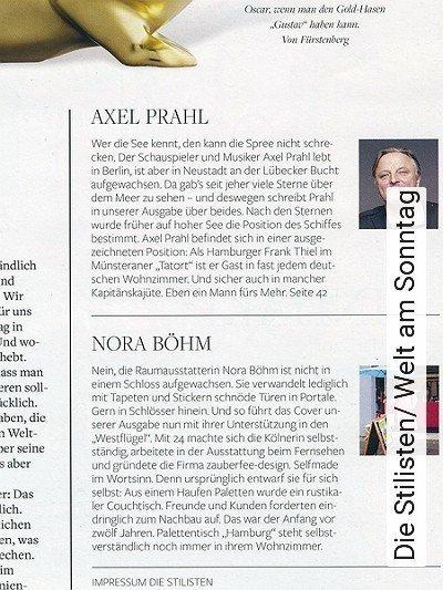 Bild: News - Die Stilisten/ Welt am Sonntag