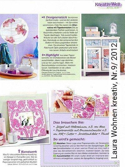 Bild: News - Laura Wohnen kreativ, Nr.9/ 2012