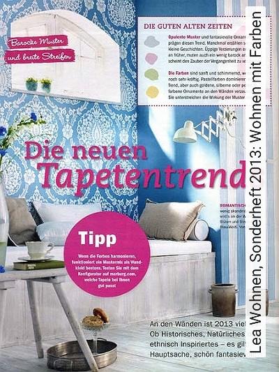 Bild: News - Lea Wohnen, Sonderheft 2013: Wohnen mit Farben