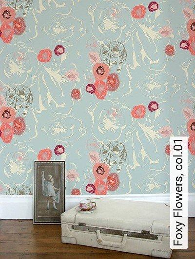 Bild: Tapeten - Foxy Flowers, col.01