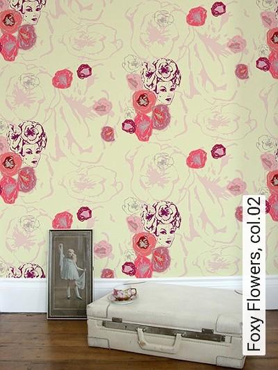 Bild: Tapeten - Foxy Flowers, col.02
