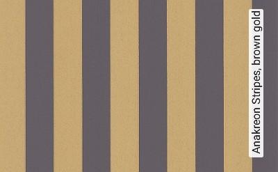 Bild: Tapeten - Anakreon Stripes, brown gold