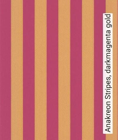 Bild: Tapeten - Anakreon Stripes, darkmagenta gold