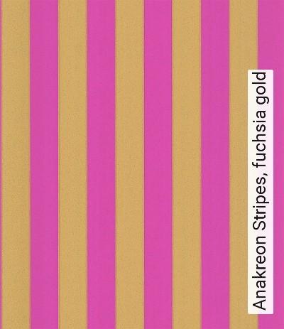 Bild: Tapeten - Anakreon Stripes, fuchsia gold