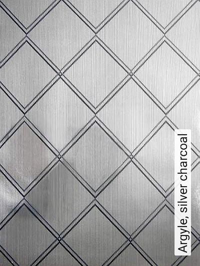 Bild: Tapeten - Argyle, silver charcoal
