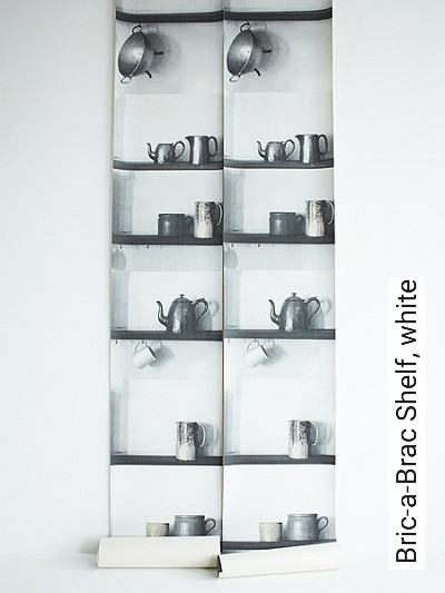 Bild: Tapeten - Bric-a-Brac Shelf, white