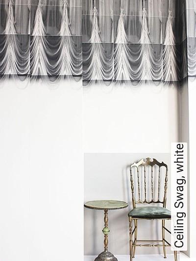Bild: Tapeten - Ceiling Swag, white