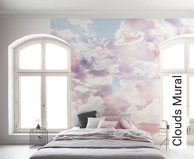 tapete clouds mural die tapetenagentur. Black Bedroom Furniture Sets. Home Design Ideas