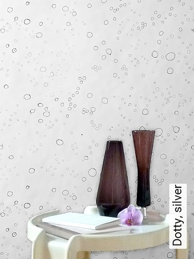Bild: Tapeten - Dotty, silver