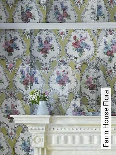 Bild: Tapeten - Farm House Floral