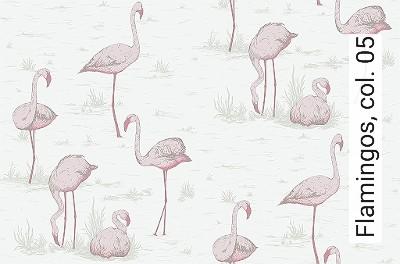 Bild: Tapeten - Flamingos, col. 05