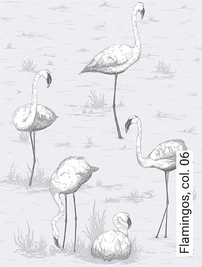 Bild: Tapeten - Flamingos, col. 06