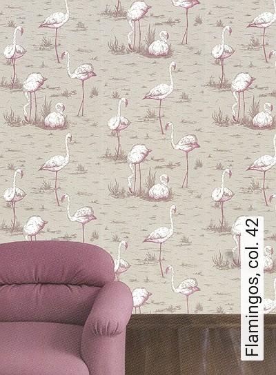 Bild: Tapeten - Flamingos, col. 42