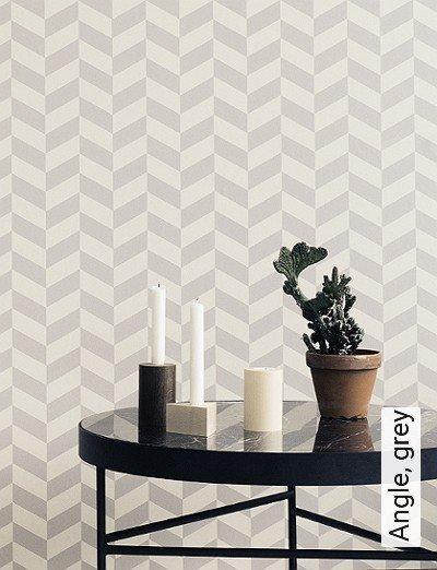 Bild: Tapeten - Angle, grey