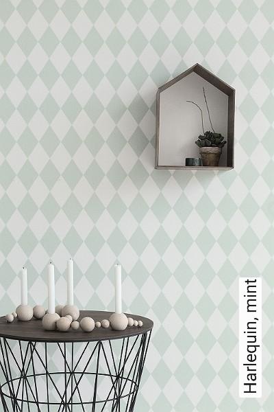 Bild: Tapeten - Harlequin, mint
