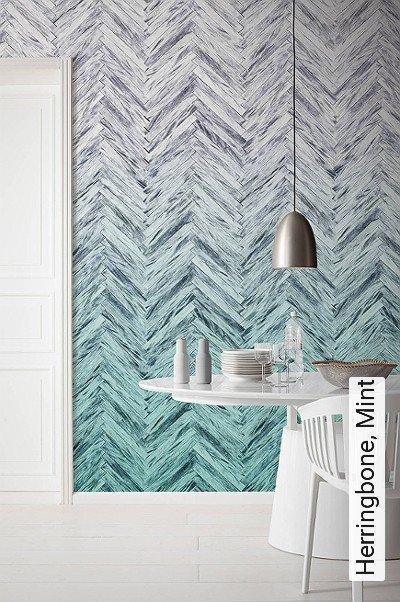 tapete herringbone mint die tapetenagentur. Black Bedroom Furniture Sets. Home Design Ideas