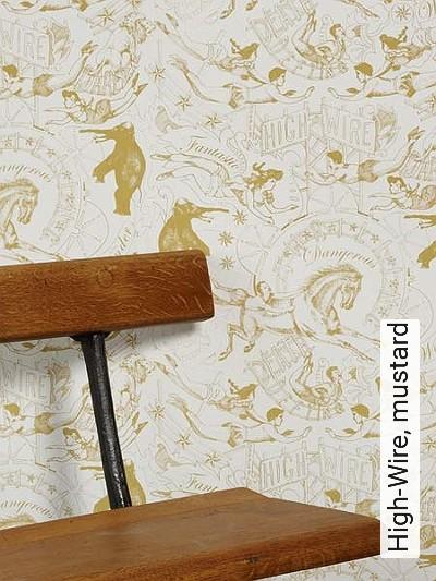 Bild: Tapeten - High-Wire, mustard