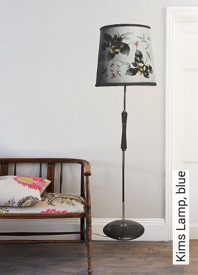 Bild: Tapeten - Kims Lamp, blue