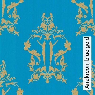 Bild: Tapeten - Anakreon, blue gold