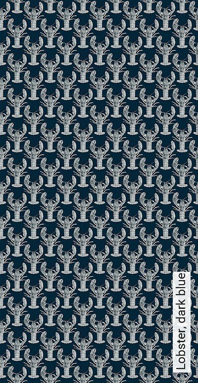 Bild: Tapeten - Lobster, dark blue