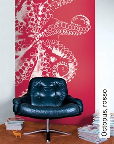 Bild: Tapeten - Octopus, rosso