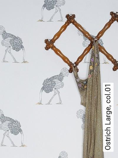 Bild: Tapeten - Ostrich Large, col.01