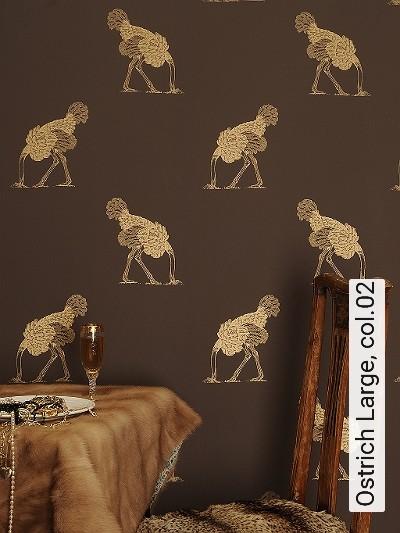 Bild: Tapeten - Ostrich Large, col.02