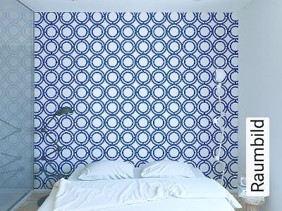 Bild: Tapeten - Palladian Loop, blue
