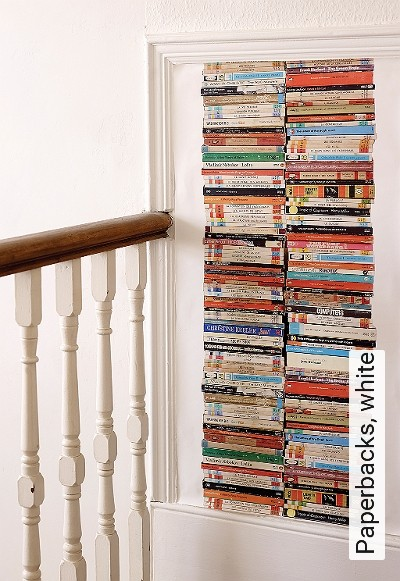 Bild: Tapeten - Paperbacks, white