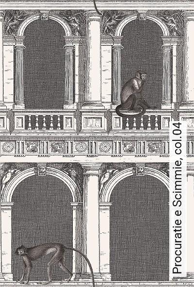 Bild: Tapeten - Procuratie e Scimmie, col.04