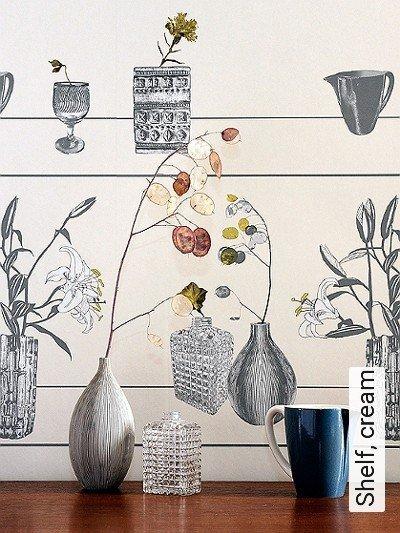 Bild: Tapeten - Shelf, cream
