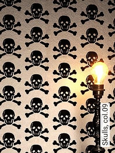 Bild: Tapeten - Skulls, col.09