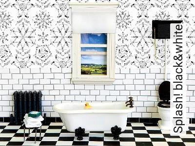 Bild: Tapeten - Splash! black&white