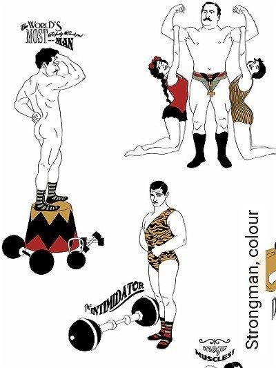 Bild: Tapeten - Strongman, colour