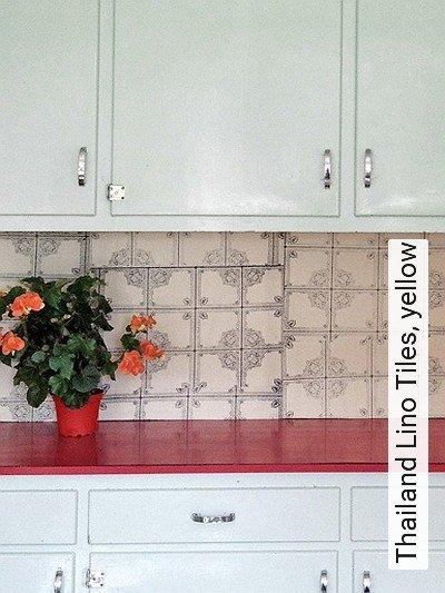 Bild: Tapeten - Thailand Lino Tiles, yellow