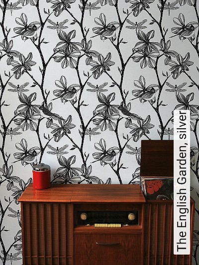 Bild: Tapeten - The English Garden, silver