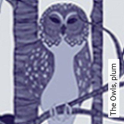 Bild: Tapeten - The Owls, plum