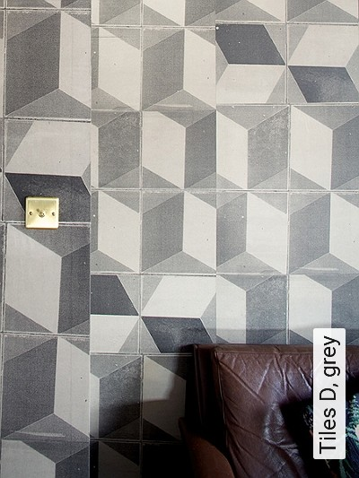 Bild: Tapeten - Tiles D, grey