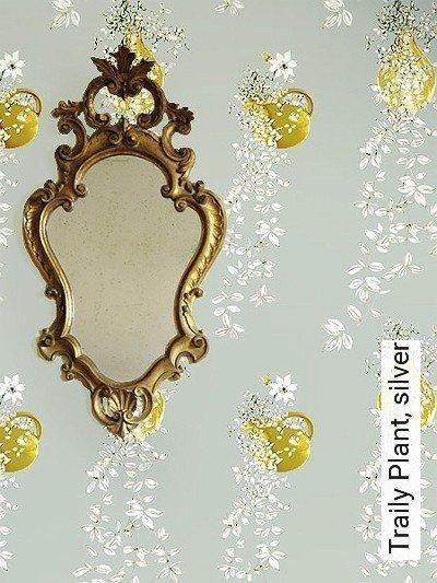 Bild: Tapeten - Traily Plant, silver