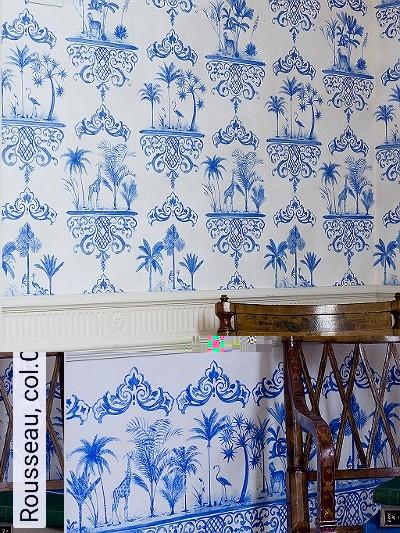 Tapeten rousseau for Tapete orientalisch blau