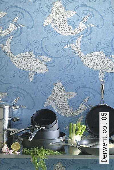 Derwent,-col.-05-Fische-Fauna-Moderne-Muster-Blau-Silber-Grau