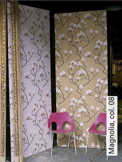 Magnolia,-col.-08-Blumen-Florale-Muster-Gold-Braun-Rosa