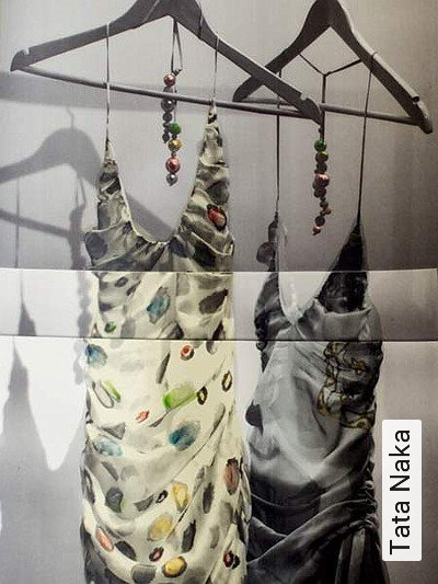 Tata-Naka--Kleidung-Moderne-Muster-Creme-Multicolor
