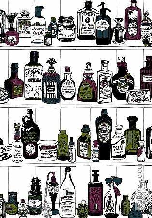 Bild Tapete - Potions, colour