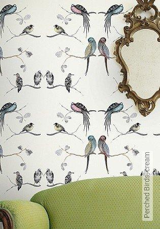 Bild Tapete - Perched Birds, cream